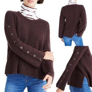NWT Madewell Pullover Button Sleeve Sweater Sz XS